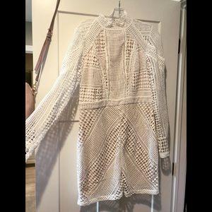 Long sleeve Crochet Dress - Size 12